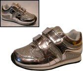 Modieuze Sneakers met Klitteband - Zilver maat 20