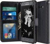 Samsung Galaxy J3 2017 - Book PU lederen Portemonnee hoesje Book case zwart