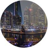 Dubai | Steden | Rond Plexiglas | Wanddecoratie | 90CM x 90CM | Schilderij | Foto op plexiglas