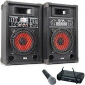 Karaoke set SPA-800 met draadloze microfoon 600W