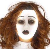 Halloween Masker Transparant Glow in the Dark Vrouw voorkant