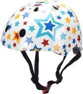 Kiddimoto - Stars - Medium - Geschikt voor 4-10jarige of hoofdomtrek van 53 tot 58 cm - Skatehelm - Fietshelm - Kinderhelm - Mooie helm