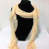 Fashionidea - Mooie zandkleurige zijde zachte glimmende sjaal