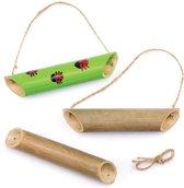 Houten voederhuisjes voor lieveheersbeestjes – Een ideale knutselset voor kinderen (3 stuks per verpakking)