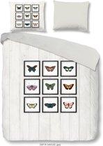 Good Morning Dekbedovertrek Butterfly - 200x200/220 - Tweepersoons - 100% Fijne Katoen