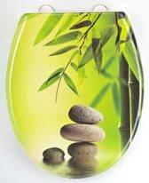 EISL WC-Bril ED69GGARDEN - Thermoplastiek - Soft Close - Afklikbaar - RVS-Scharnieren - Decor -3-zijdige Print - Green Garden