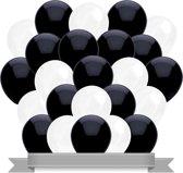 Ballonnen Zwart / Wit (30ST)