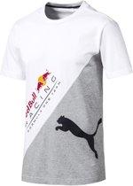 PUMA Red Bull Racing Logo Tee + Shirt Heren - Puma White - Maat L