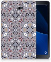 TPU-Siliconen Backcase Samsung Tab A 10.1 Design Flower Tiles