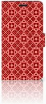 Sony Xperia T3 Bookcase Batik Red