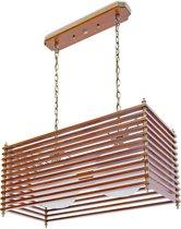 relaxdays Pendellamp hout, Hanglamp, Plafondlamp, Design, Crackle-effect, Decoratieve lamp