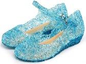 Prinsessen schoenen blauw Prinses Elsa maat 28 (valt als maat 26) - verkleedkleding