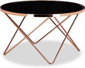 relaxdays - bijzettafel salontafel - bijzettafeltje - tafeltje glas koper - edel
