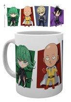 One Punch Man Chibi Characters Mug