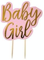 Babygirl taarttopper - roze