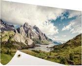 Berggebied Tuinposter 120x80 cm - Tuindoek / Buitencanvas / Schilderijen voor buiten (tuin decoratie)