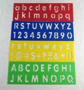4-Delige Lettersjablonen Set - Sjablonen Met Letters & Hoofdletters - aa commerce Lettersjabloon