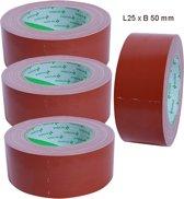 Duct tape rood Nichiban L25m x B50mm per 4 stuks
