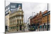 Rustige straat bij Liverpool in het Verenigd Koninkrijk Aluminium 120x80 cm - Foto print op Aluminium (metaal wanddecoratie)