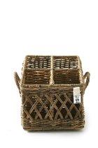 Rivièra Maison Rustic Rattan Couvert Basket Square - Bestekcassette - 21 x 20 cm - Rattan