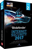 Bitdefender Internet Security 2017 - Nederlands / Frans - 5 Apparaten - 2 Jaar - Windows