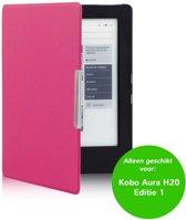 Smart magnetische flip hoes Kobo Aura H20 roze