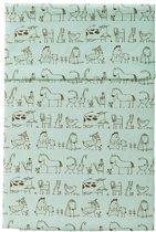 Cottonbaby Ledikantlaken dierprint groen