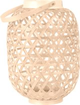Present Time Lattice - Windlicht - 27 x 19 cm - Bamboe - Naturel
