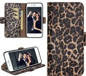 Bouletta Lederen Apple iPhone 8 Plus Hoesje - BookCase - Leopard
