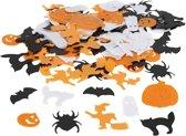 Pailletten, afm 10-20 mm, wit, oranje, zwart, Halloween, 15gr