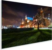 Kelvingrove-museum bij nacht in het Europese Glasgow Plexiglas 180x120 cm - Foto print op Glas (Plexiglas wanddecoratie) XXL / Groot formaat!