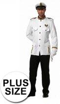 Grote maten kapitein kostuum voor heren 58 (3XL)