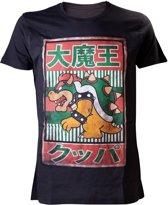 Nintendo - Black. Bowser Kanji Mens T-shirt - 2XL