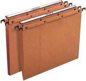 25x L'Oblique hangmappen voor laden AZO tussenafstand 330mm (A4), V-bodem, oranje
