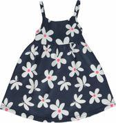 Losan Meisjes Jurk Blauw met witte bloemen - Maat 92