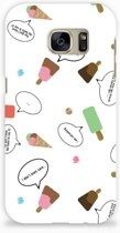 Samsung Galaxy S7 Hardcase Hoesje Design IJsjes