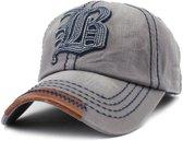 Baseball Cap - FLB - Grey-Blue Washed Vintage - C020