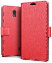 Nokia 1 hoesje - Book Wallet Case - rood