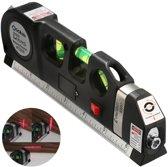 Laserwaterpas - 3in1 Laser waterpas (horizontaal, verticaal en kruis-lijn) met 3 libellen