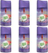 6x Fresh & More Luchtverfrisser RaspBerry Pink Flowers & Candy