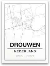 Poster/plattegrond DROUWEN - 30x40cm