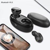 QCY nieuwste generatie - Volledige draadloze oordopjes - in-Ear oordopjes - Bluetooth 5.0 - Zwart