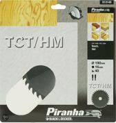 Piranha Cirkelzaagblad TCT/HM, 190x16mm 40 tanden X13145