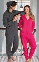 Warme onesie/jumpsuit rood voor heren - huispakken volwassenen XS (EU 36 - EU 46)