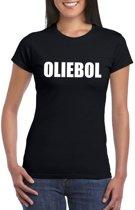 Foute oud en nieuw t-shirt oliebol zwart voor dames 2XL