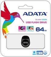 ADATA DashDrive Durable USB 2.0 UD310 - USB-stick - 64GB Zwart ('s werelds kleinste USB-stick!)