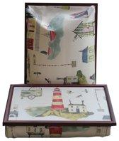 Margot Steel laptray/schoottafel aan Zee - 41 x 31 10 cm