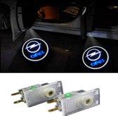 Logo deur projector geschikt voor Opel - 2 stuks