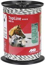 Kunststofdraad TopLine, 400 m, 6 x 0,25 mm, wit/zwart