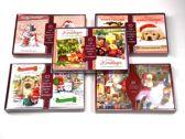 50 stuks: Luxe Kerstkaart en Nieuwjaarskaart met envelop | 15x10.5cm | 5 pakjes | Serie Rood - B